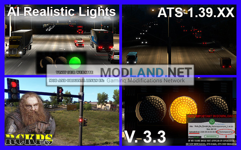 AI Realistic lights V. 3.3 For ATS 1.39.XX