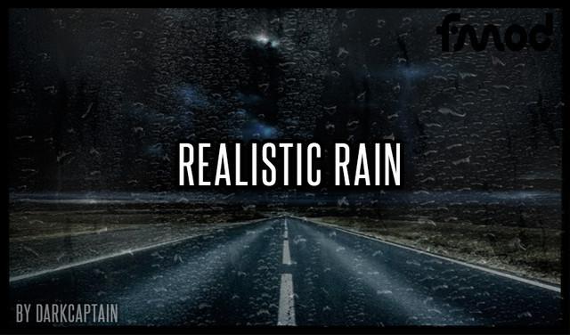 Realistic Rain v 3.8 ETS2 1.39