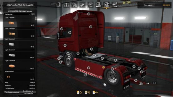 Sideskirts Plate for All Scania RJL et R/S 2009 by SCS