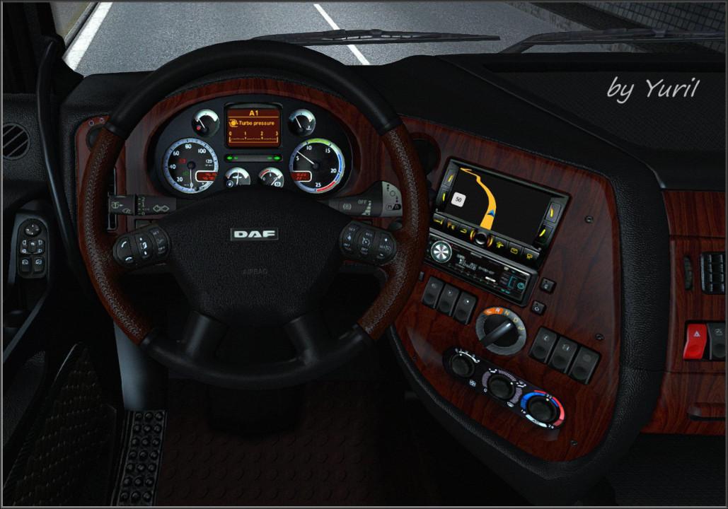 Dark Interior for DAF XF 105