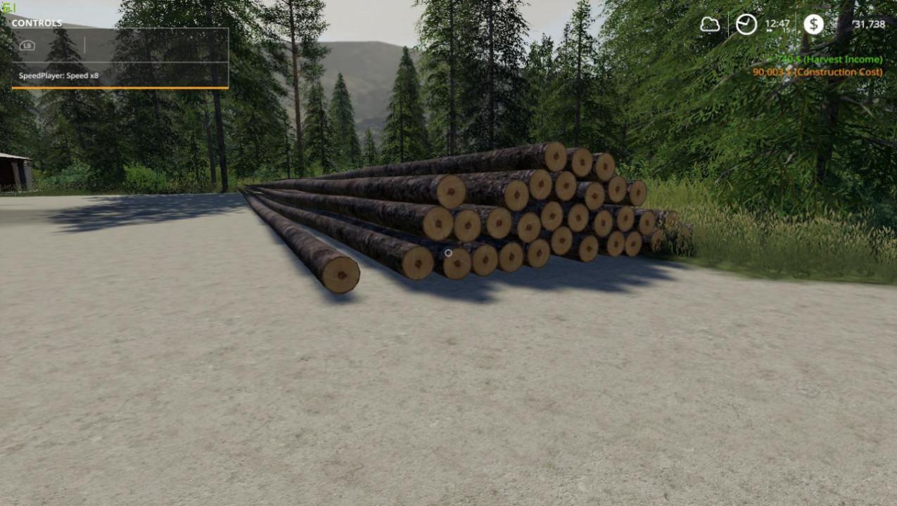Full Length Spruce Logs By Stevie