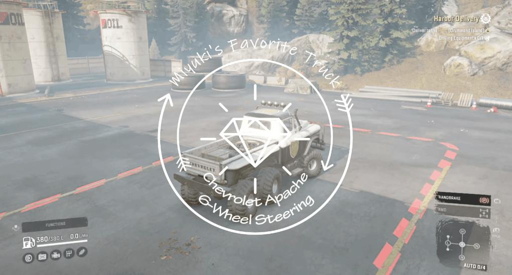 Miyuki's 6-Wheel Steering Apache