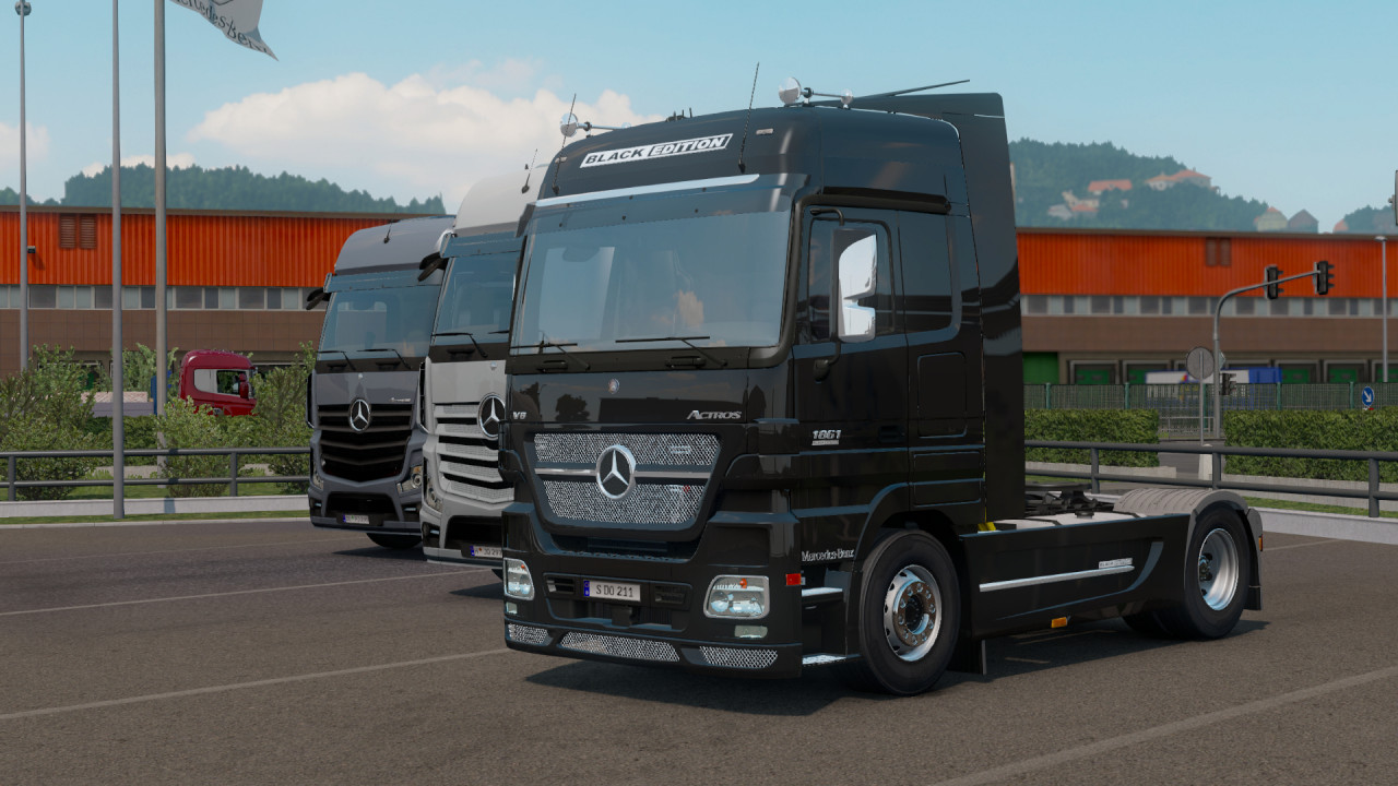 Mercedes-Benz Actros MP2 Black Edition by Dotec v1.1 Fixed 1.39