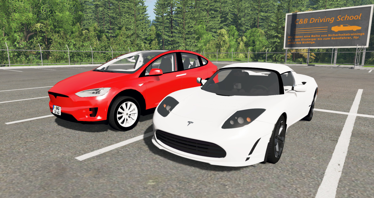 Tesla model X and Tesla Roadster pack
