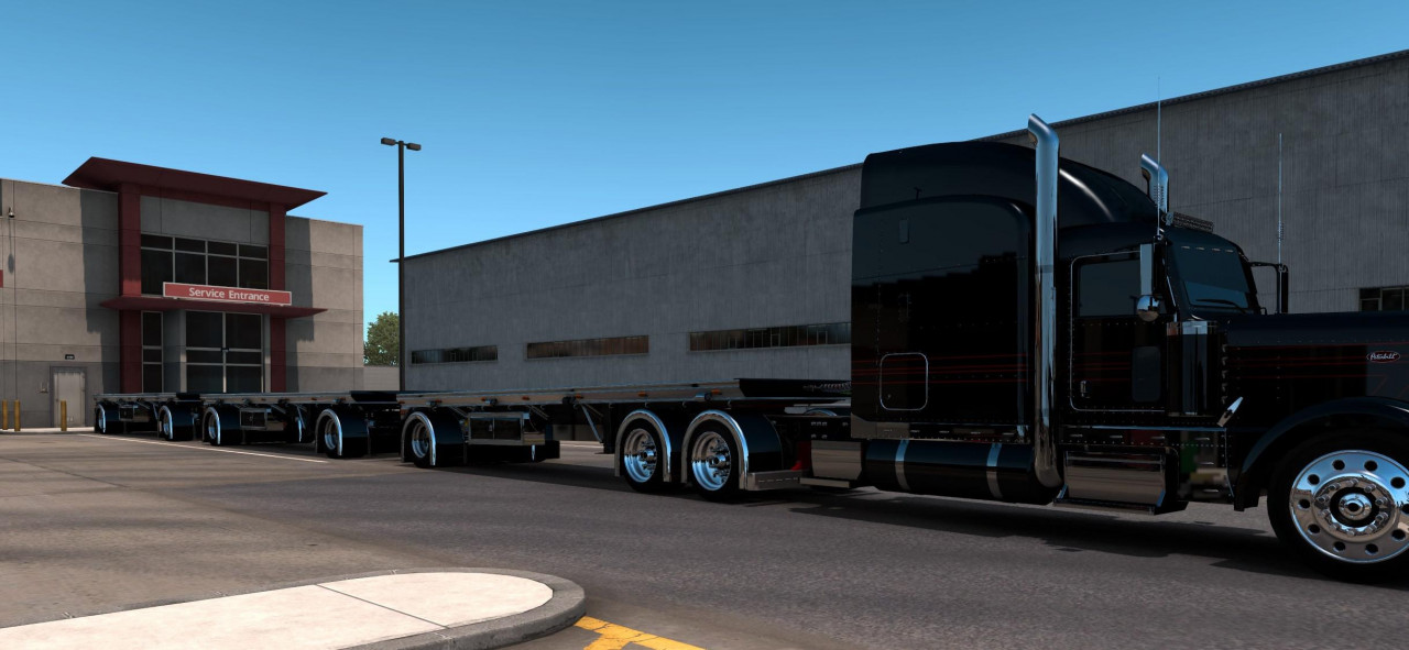 Wesco hay trailer custom