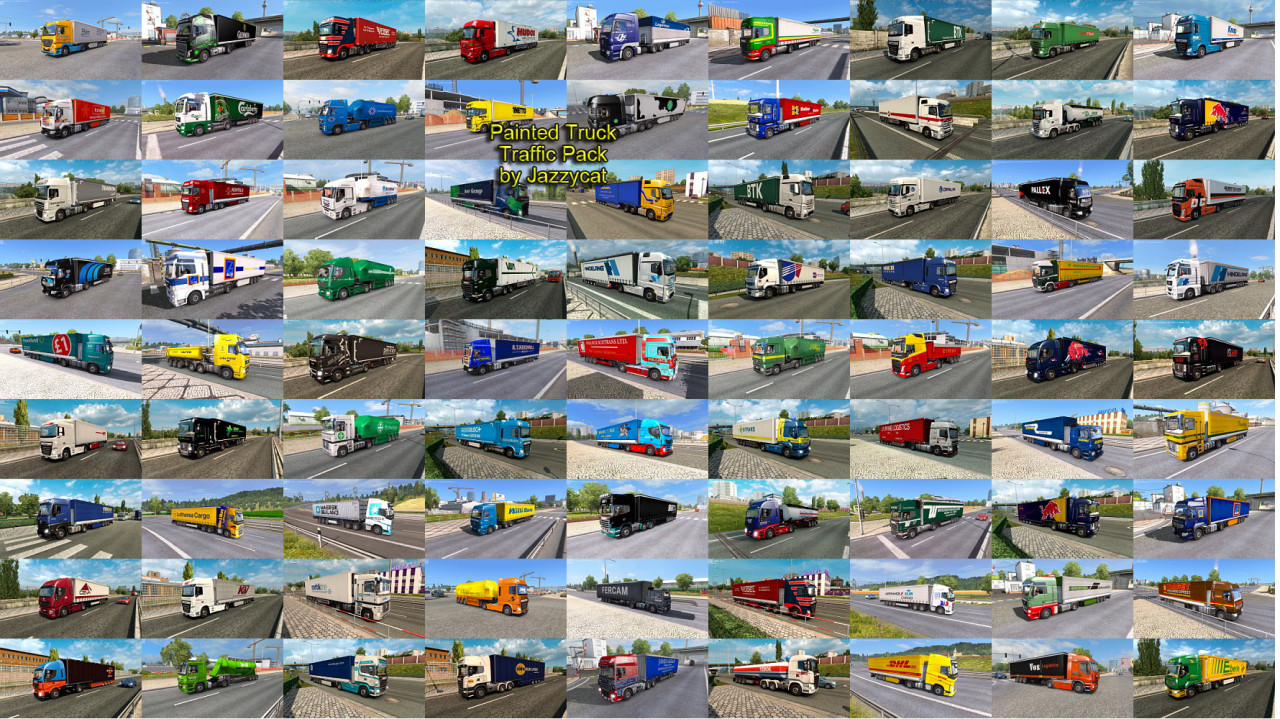Painted Truck Traffic Pack by Jazzycat
