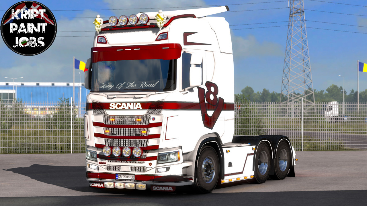Scania S Skin With Changeable Color Strips