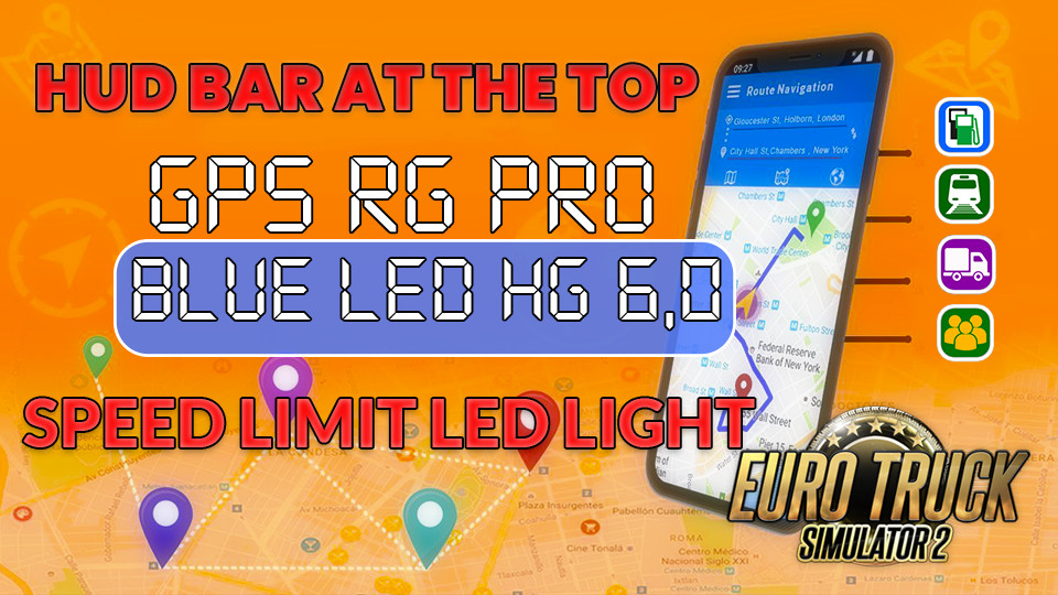 GPS RG PRO BLUE LED HG