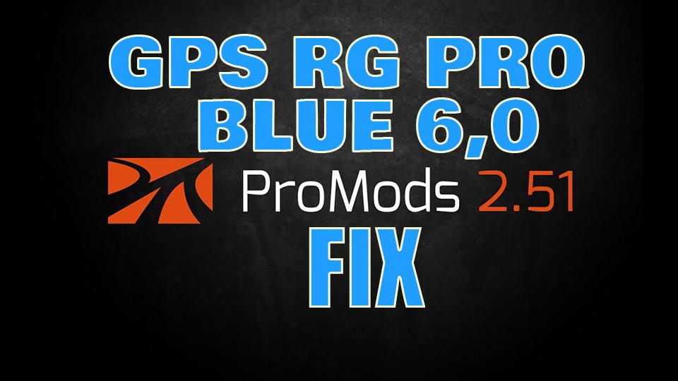 GPS RG PRO BLUE Promods FIX