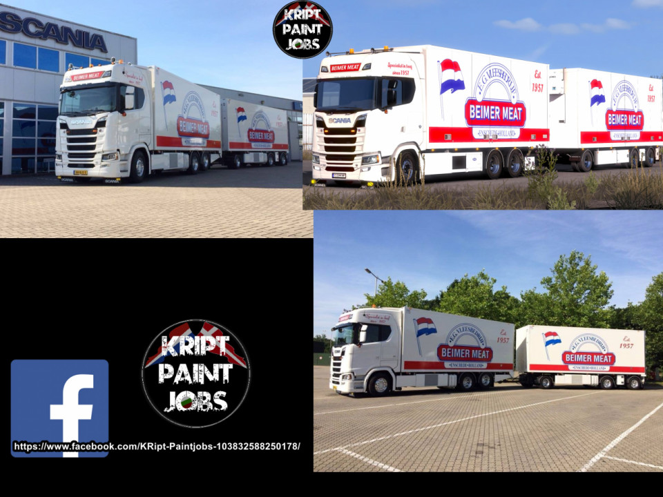 BEIMER MEAT Skin For Scania  S