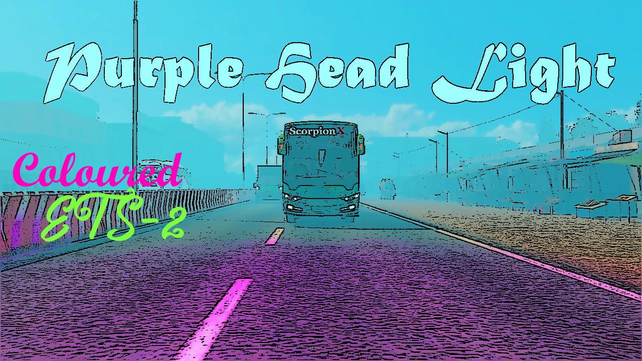 Purple Head Light - Coloured