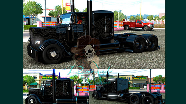 Peterbilt 389 Viper2 Blackout Viper