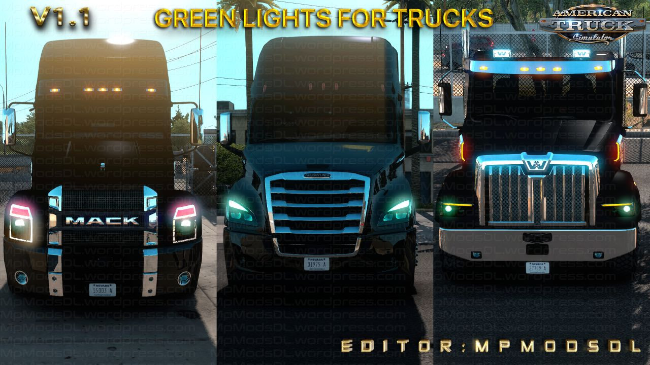 Green Lights For Trucks Mod For ATS Single-Multiplayer