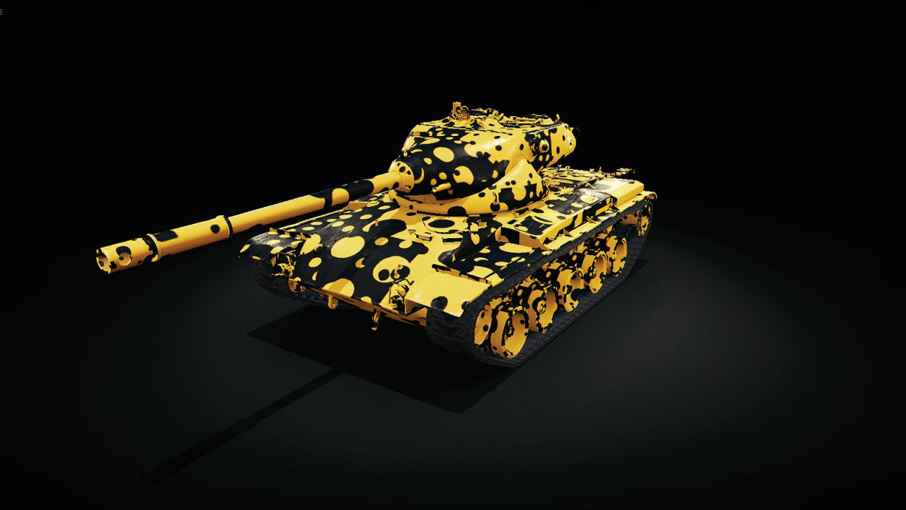 Black and Yellow Camouflage Skin: US T-69