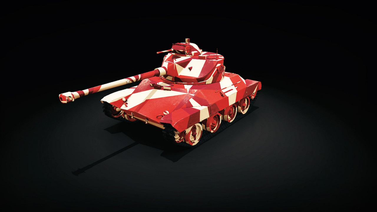 Red and White Camouflage Skin: US T-71 DA