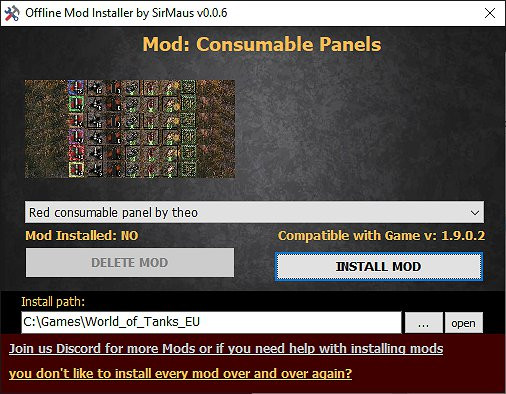6x Consumable Panel - Easy Install