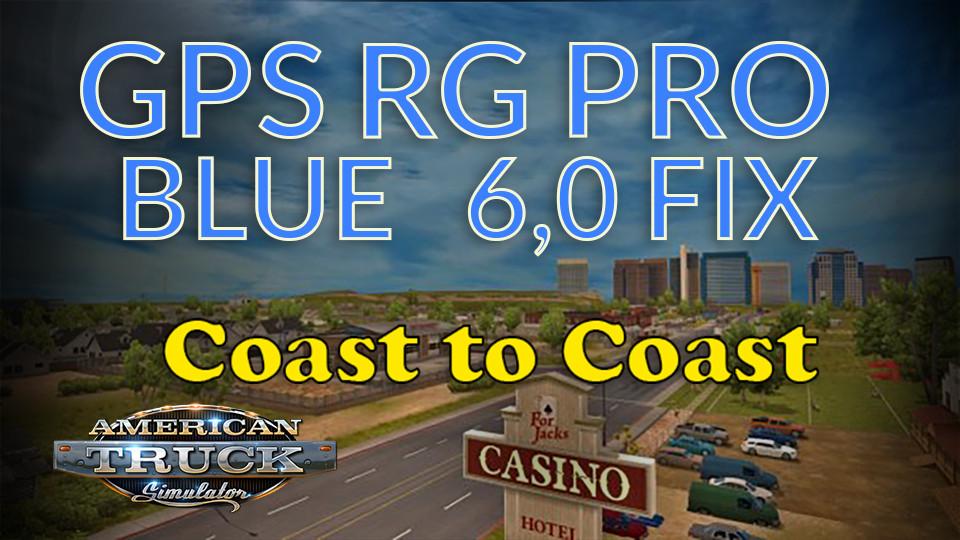 GPS RG PRO  BLUE FIX Coast to Coast