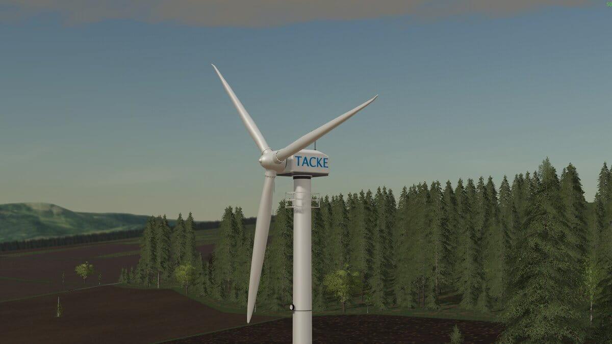 Platzierbare Windkraftanlage TW 80