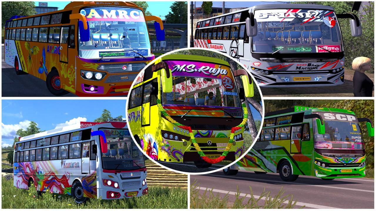 Tamilnadu bus mod | 5 in 1 Mega Pack | Ets2 1.30 to 1.40