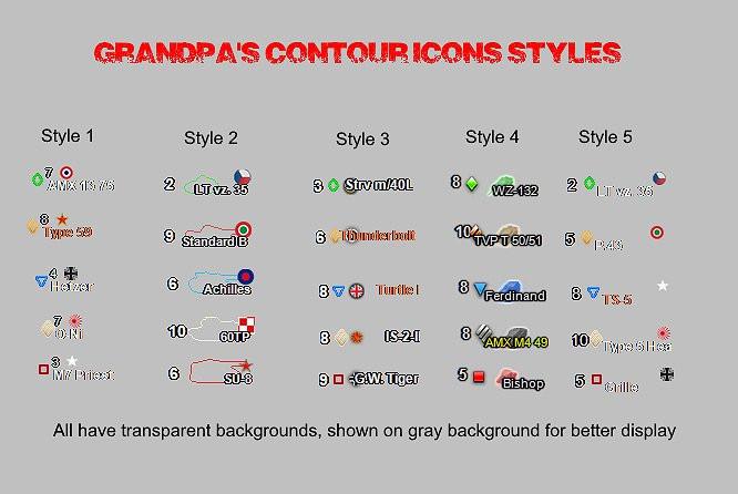 Grandpa's Icons (Multiple Options)