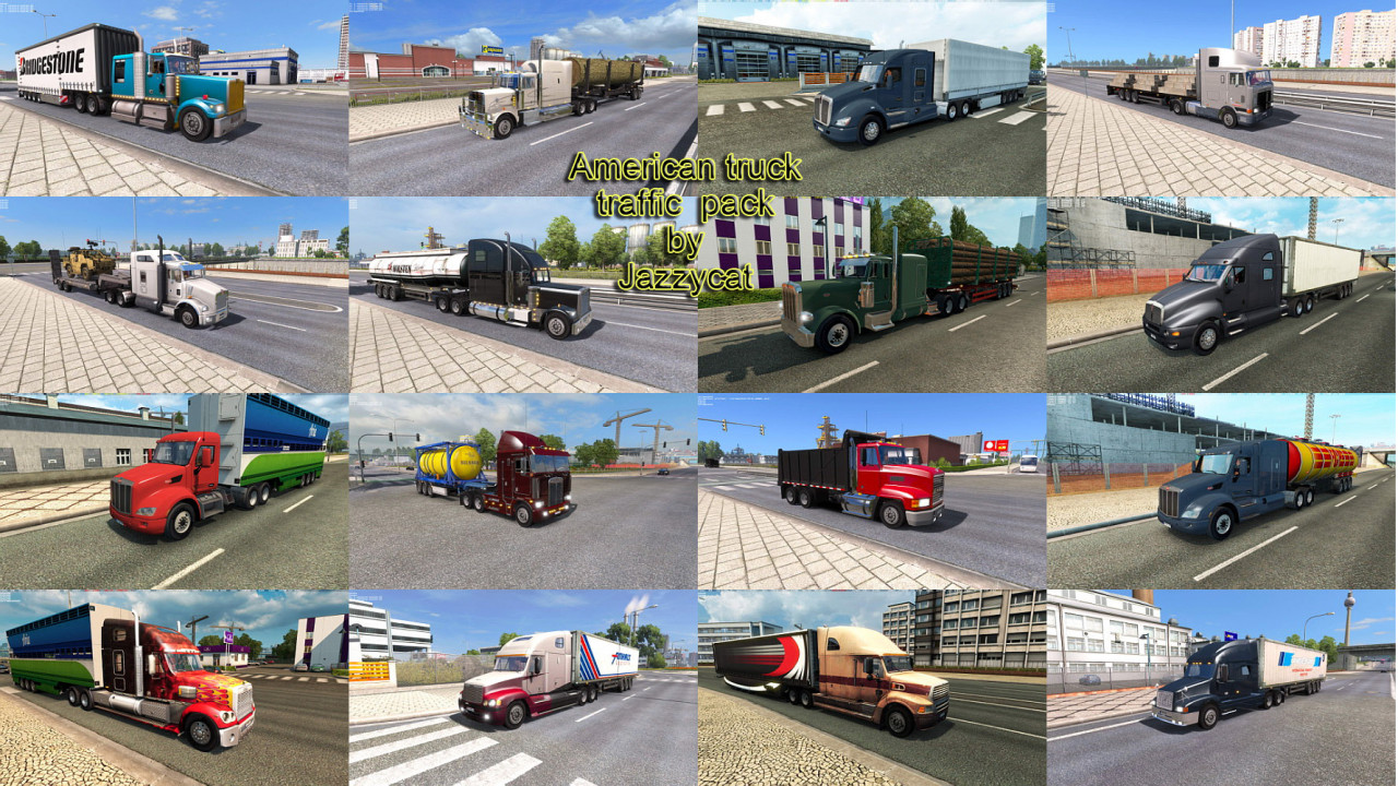 American Truck Traffic Pack by Jazzycat
