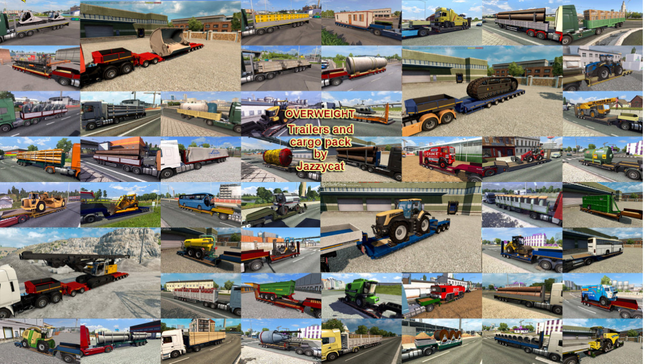 Overweight Trailers and Cargo Pack by Jazzycat