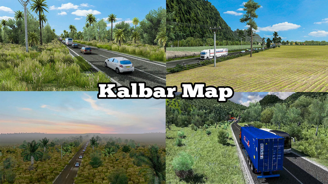 Map of West Kalimantan by Sultan - ETS2 1.36 to 1.39 and 1.40