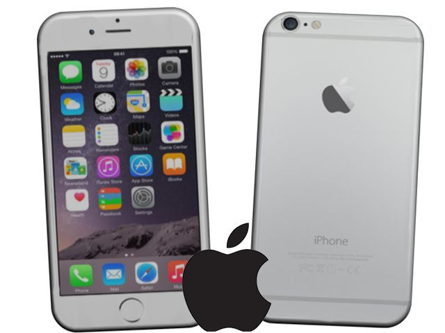 Silver iPhone