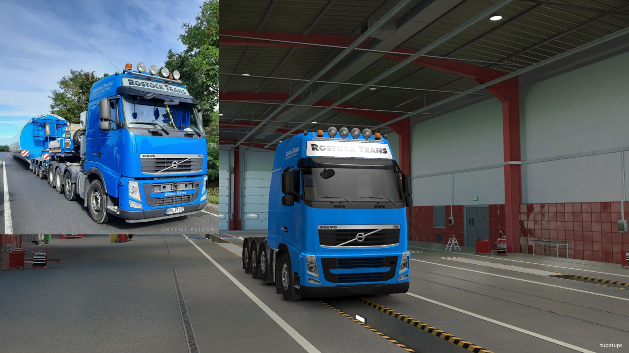 Rostock Trans Skin for Schumi's Volvo FH&FH16 2009 Reworked