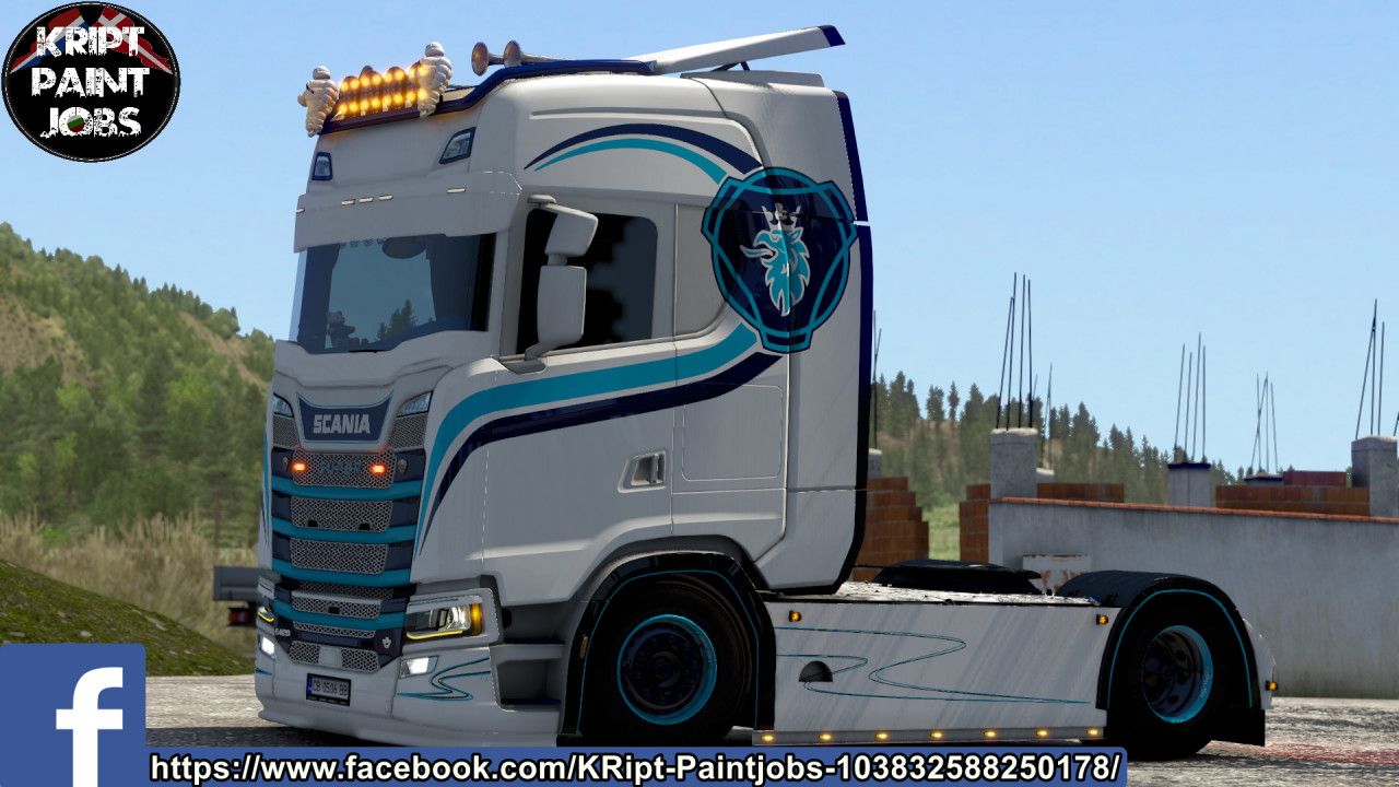 Scania S Blue Lines