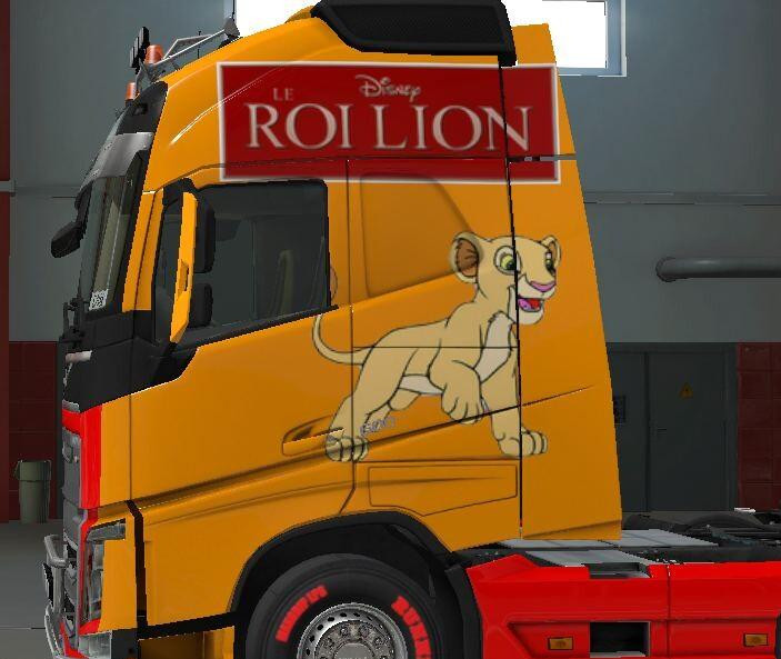 Lion King skin for Volvo FH Globetrotter XL