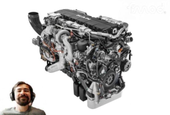 Real MAN D38 engine sound