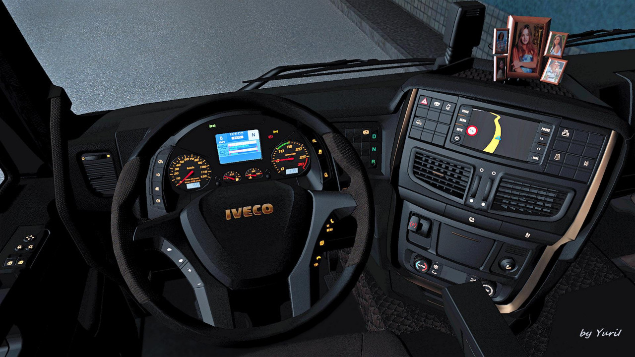 Dark Interior Iveco Hi-Way
