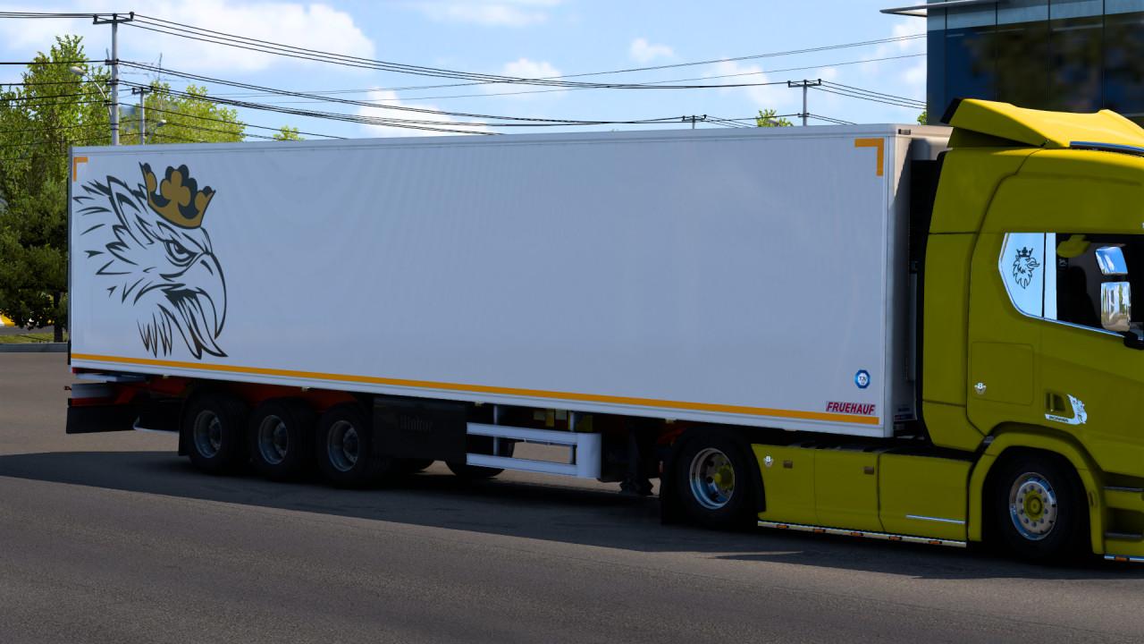 Fruehauf Iceliner Trailer with Scania Skin
