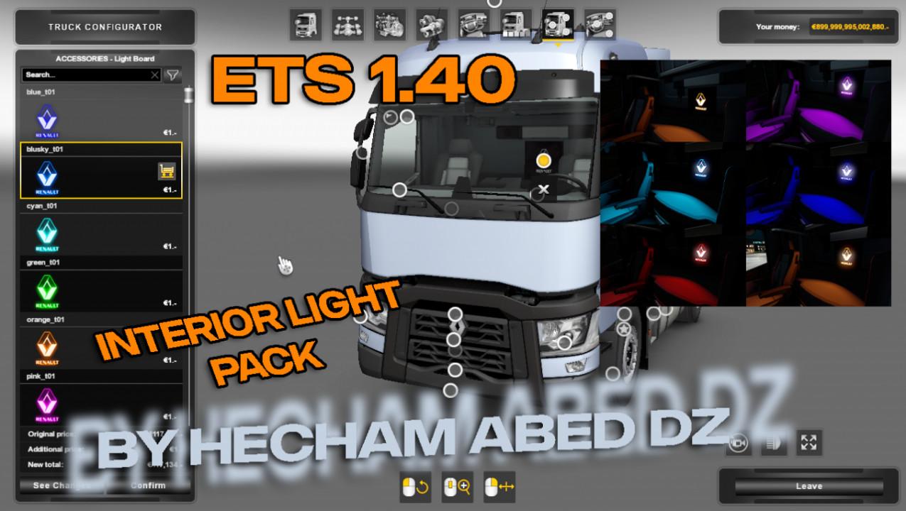 Interior Light Pack Renault T v1.0 By Hecham Abed DZ