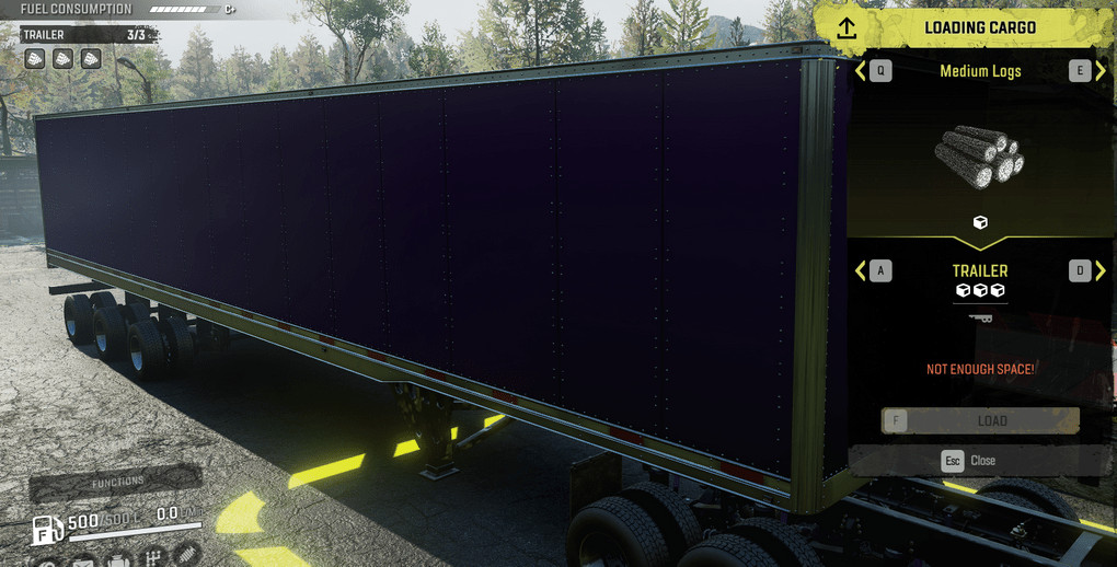 iX Enclosed Log Trailers