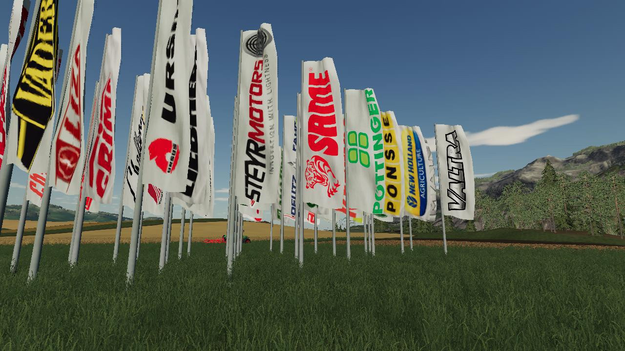 Placeable Brand Flags