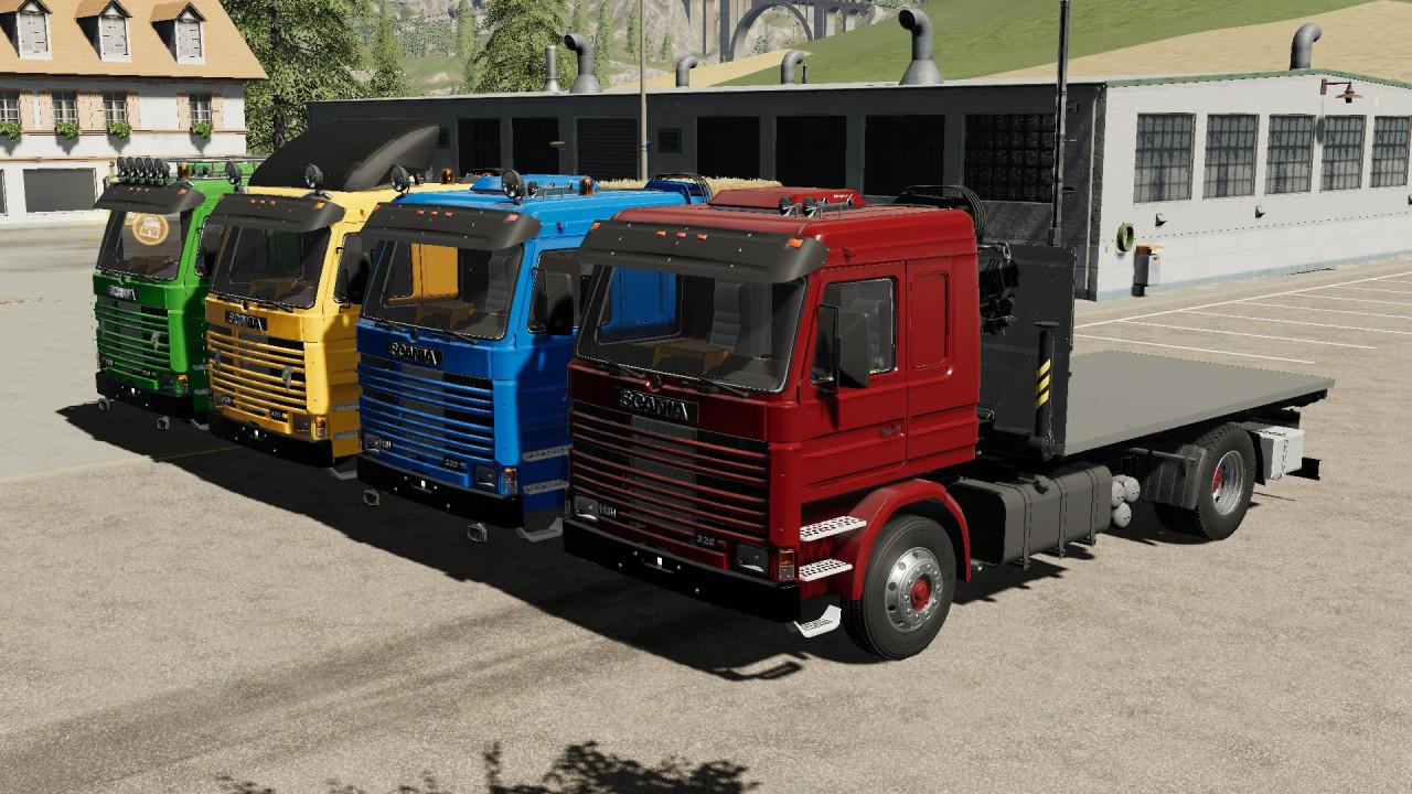 Scania 113H SideDoors + Crane