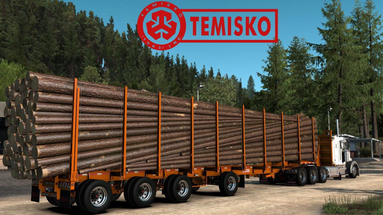 Temisko Quad Axle Log Trailer