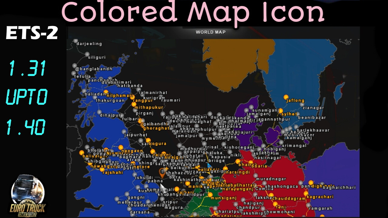 Colored Map Icon