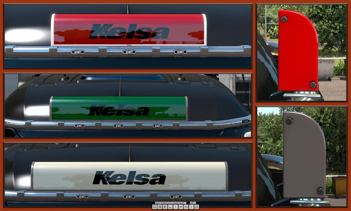 Kelsa LED illuminated nameboards