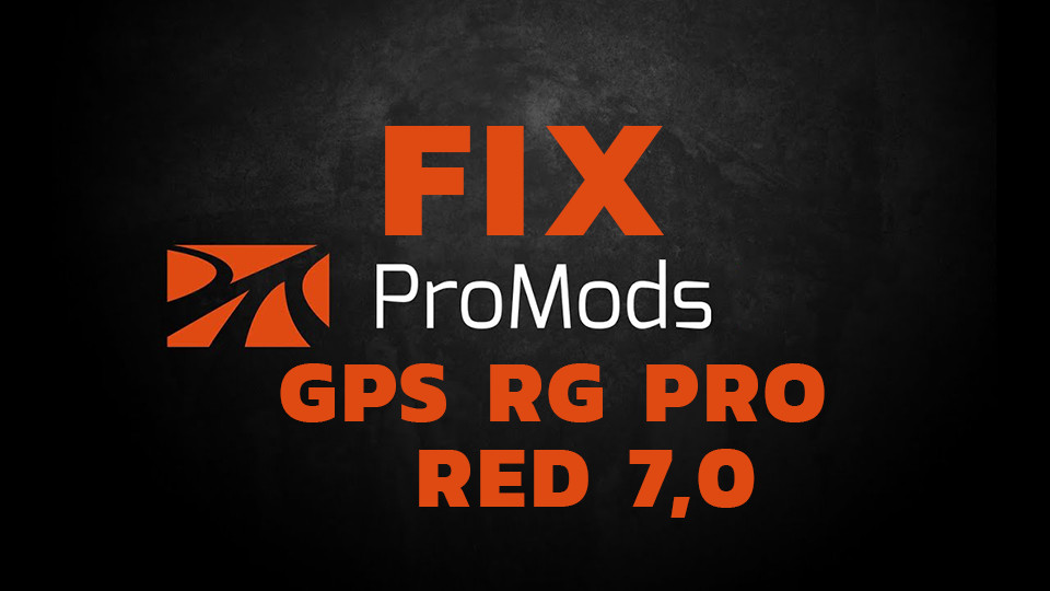 GPS RG PRO RED Promods FIX