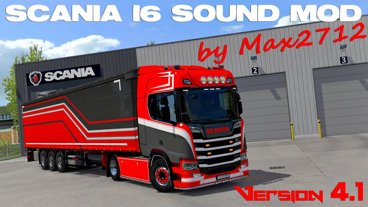 SCANIA NextGen I6 sound mod by Max2712 V2.1