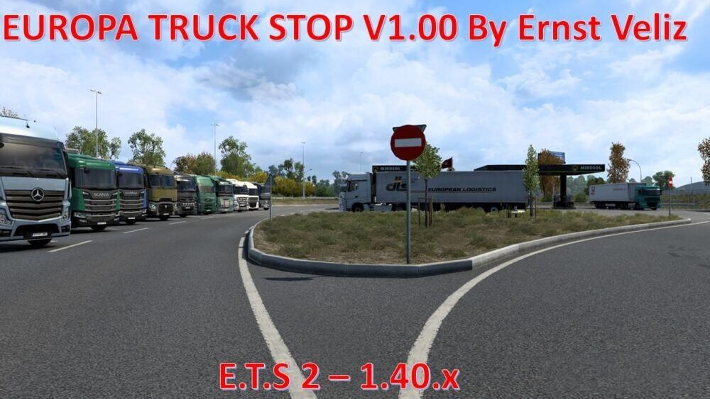 Europa Truck Stops V1.20  (ETS2 1.36 & 1.37)