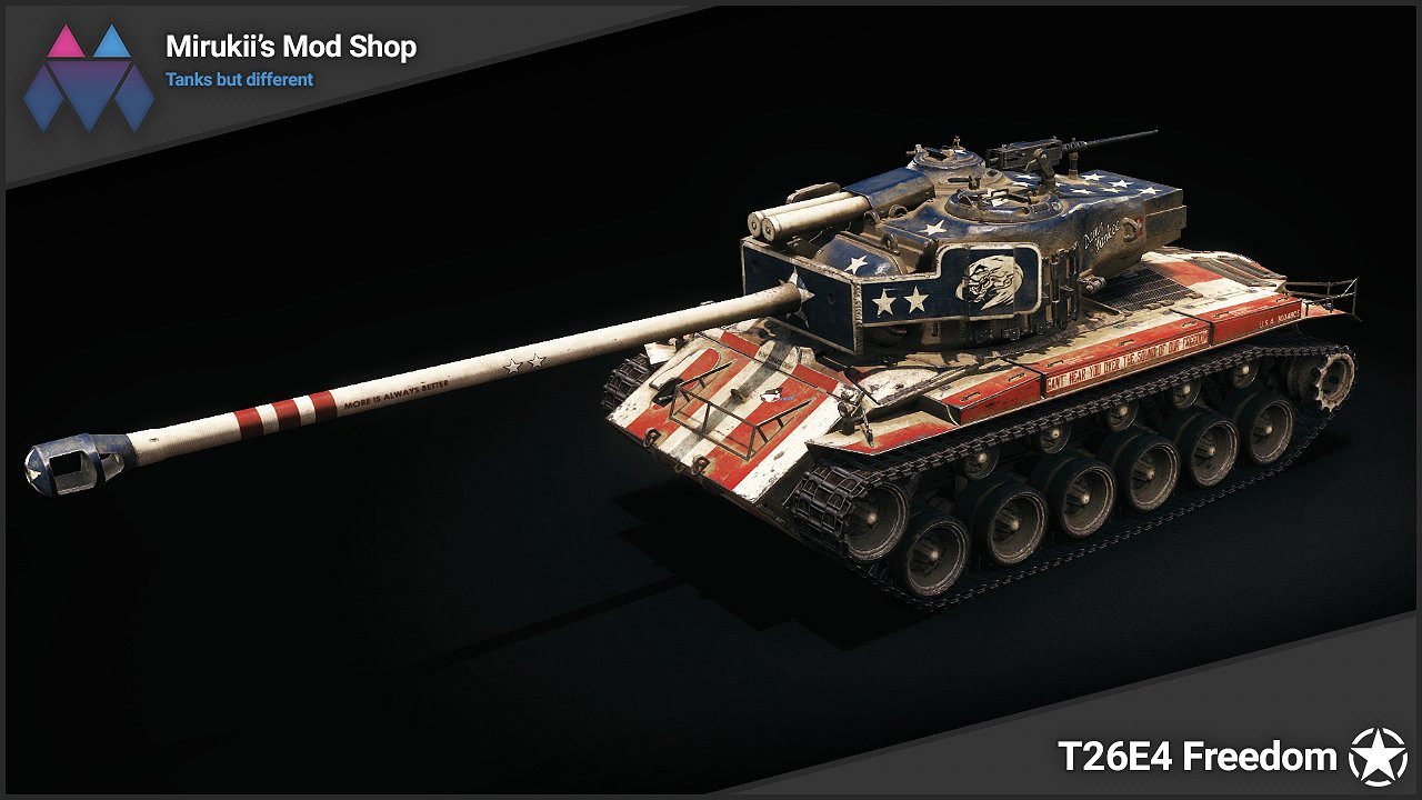 Mirukii's T26E4 Freedom Skin