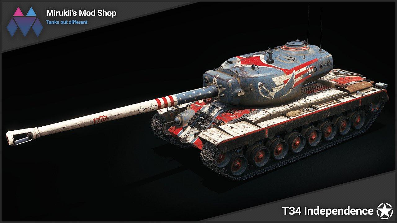 Mirukii's T34 Independence Skin
