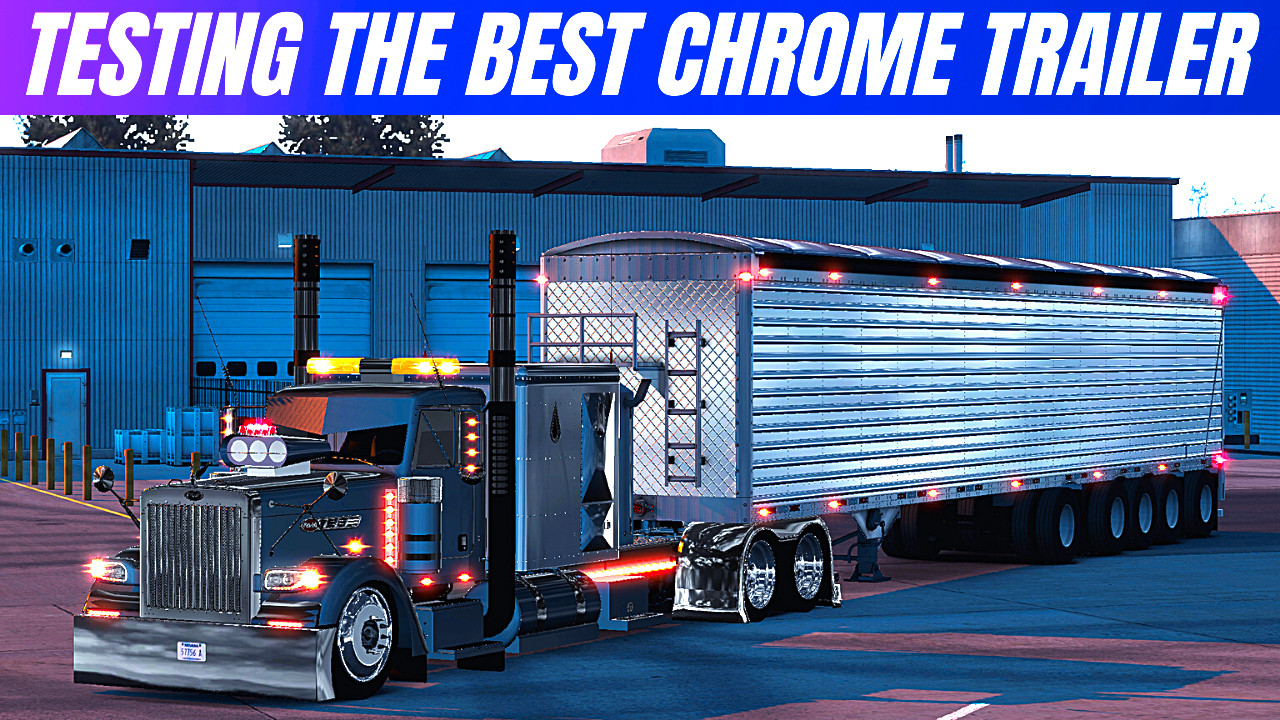 American Truck Simulator THE BEST CHROME TRAILER WILKINS [ATS 1.40-1.39]