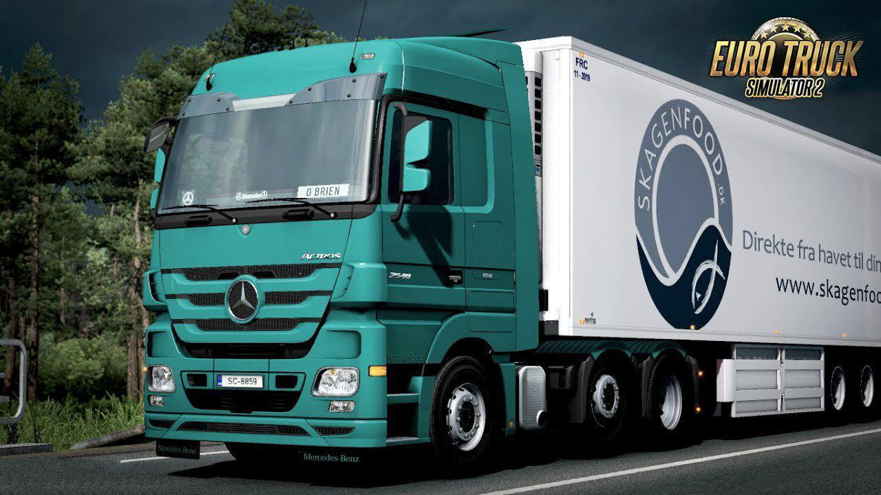 Mercedes Actros Open Pipe Sound Reworked