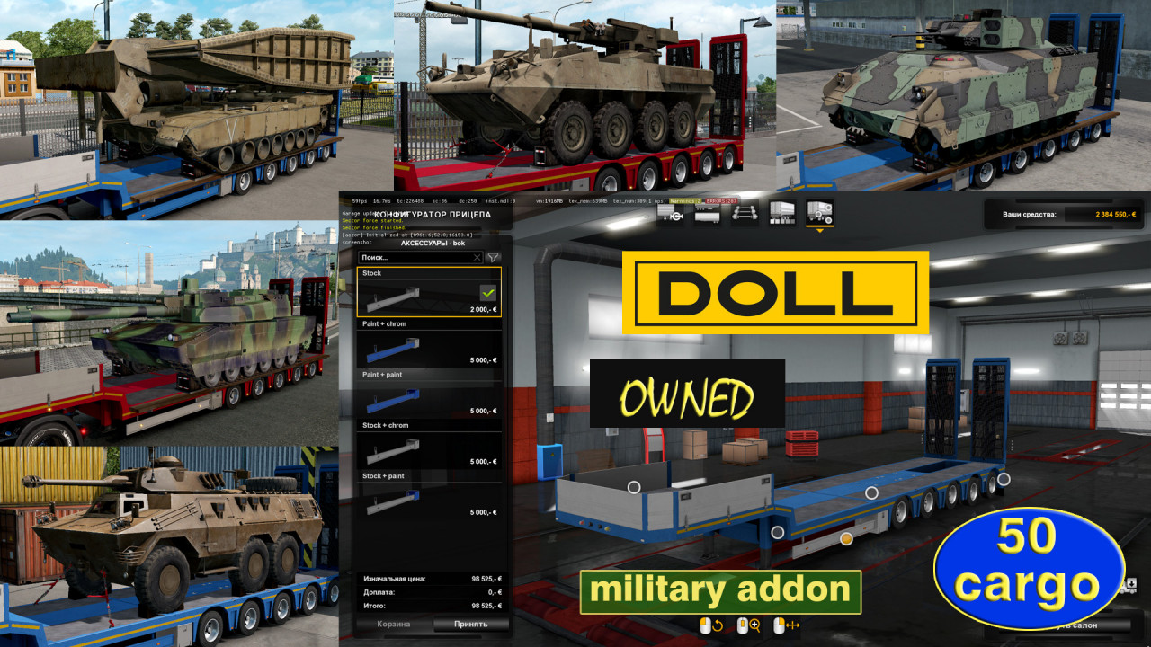 Military Addon for Ownable Trailer Doll Panther