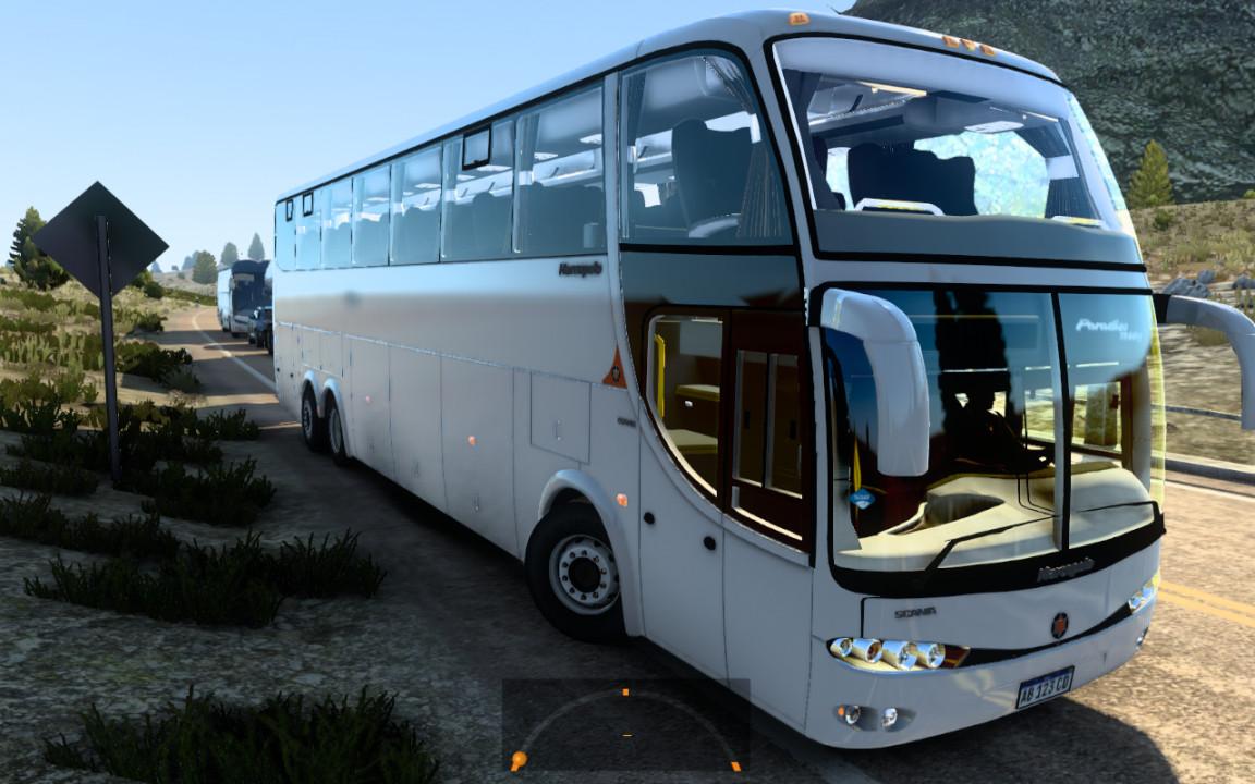 Marcopolo Paradiso g6 1550 6x2 Scania Actualizado ETS2 1.40
